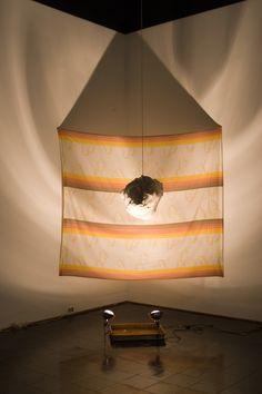 Crisco Rain- crisco cloud, paper, bedsheet, rope, heat lamp, photography tray