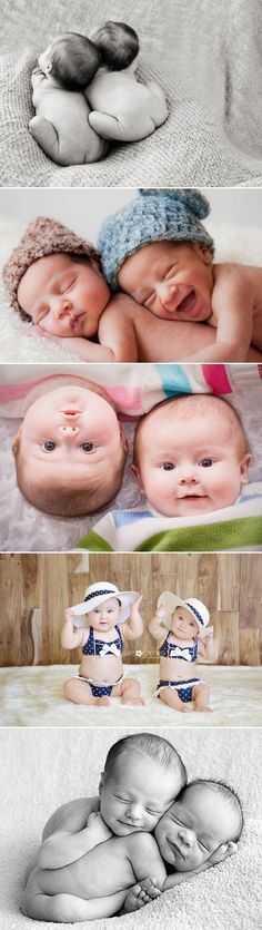 We absolutely adore newborn photography, and really can't get enough of it! Photographing twin babies can be very challenging, but the result brings double the joy.  Take a look at these twin baby photos below. These creative ideas are great for twins as well as future buddies! Enjoy!   Intimate Love Credits (from the top, …