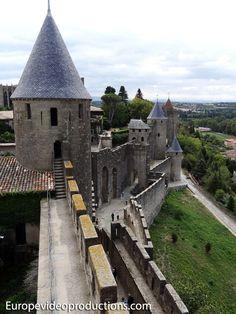 Castillo de Carcasona, en Languedoc-Rosellón en Francia