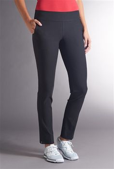 Shop ladies slimming golf ankle pants from Swing Control like the Basics Slim 31' Black Golf Pant + Free Shipping.