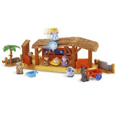 Little People® Nativity Playset ~ Instead of doing Elf on a Shelf, read the Christmas story over the 25 days before Christmas and hide Mary, Joseph, Wise Men, Shepherds, and baby Jesus for the kids to find. (This play set has to be bought separately in three parts, which totals to $70 if you have all three--expensive! But it will never break since they're kiddo toys.)