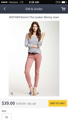 Colored skinny jeans with fitted black & white top!hint hint stitch fix.  See how these jeans fit.