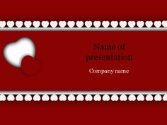 Red white heart powerpoint template