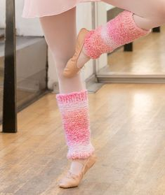 Shades of Pink Leg Warmers Free Knitting Pattern in Red Heart Yarns