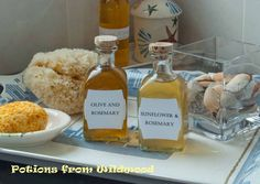 homemade bath oils..