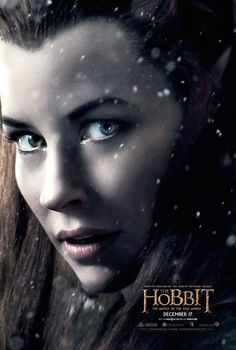 """[ad Evangeline Lilly's Tauriel gets her own poster for The Hobbit: The Battle of the Five Armies. """"The Hobbit: The Battle of the Five Armies"""" brings to an epic conclusion th… Gandalf, Legolas, Thranduil, Tauriel Hobbit, Hobbit 3, Kili And Tauriel, Bilbo Baggins, Thorin Scudodiquercia, Evangeline Lilly"""