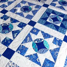 I realize these colors don't jive with my IG feed--however my blue loving daughter is going to be very excited to see this quilt on her bed this afternoon when she gets home from school.  Over the weekend she saw this quilt in @mccallsquilting --(it's one I designed a few years back) and asked if I still have it.  I told her I did, and she said, I want it on my bed.  And mission accomplished, bed is sporting a blue quilt--her favorite color.  Every now and then I like to do a little surprise…