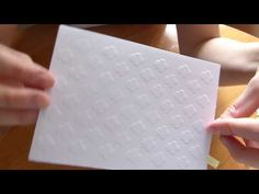 [ ASTUCE ] EMBOSSER avec ses POCHOIRS !! ♫ - YouTube Wedding Boxes, Tampons, Kirigami, Big Shot, Creations, Album, Paper, Cards, Couture