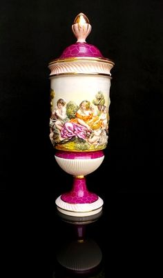 Very Large Capodimonte Urn / Vase