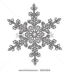 mandala snowflake - Google Search