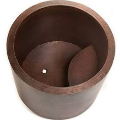Premier Copper Products BTR45DB 45 in. x 36 in. Round Soaking Bathtub Hand Hammered Copper with Built in Bench