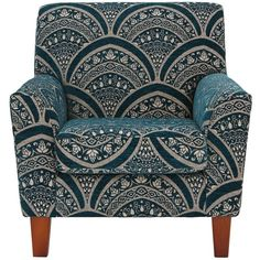 Gatsby Accent Chair ($510) ❤ liked on Polyvore featuring home, furniture, chairs, accent chairs, patterned armchair, art deco style furniture, art deco armchairs, patterned chair and art deco furniture