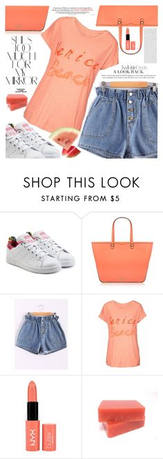 """Summer Freshnes"" by vanjazivadinovic ❤ liked on Polyvore featuring adidas Originals, Rika, Rebecca Minkoff, Oris, NYX, polyvoreeditorial, Poyvore and twinkledeals"