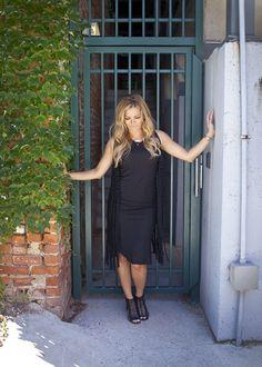 Black tank maxi dress and crochet vest.  Becca Tilley's Favorites Collection, sugarloveboutique.com