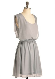Simple Solution Dress in Silver