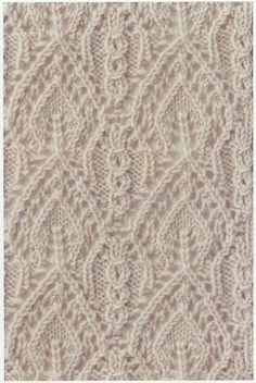 Free chart Lace Knitting Stitch #65   Lace Knitting Stitches by audrey fagan