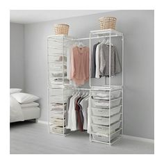 ALGOT Frame w rod/mesh baskets/top shelf - IKEA