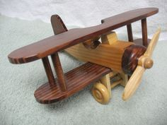 wooden toy airplane. $20.00, via Etsy.