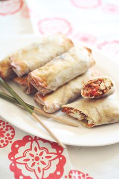 Baked Chicken Egg Rolls #appetizer #healthy