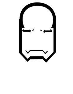 type portrait of iron man