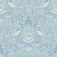 Fine Decor Crane Toile China Blue Wallpaper £12.99. Above the dado rail