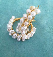 Argollas de perlas $30