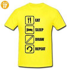 Eat Sleep Draw Repeat Black Graphic Men's T-Shirt XX-Large (*Partner-Link)