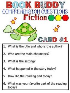 Leveled Book Buddy Questions