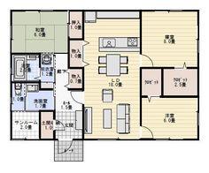 29坪3LDKサンルームのある平屋の間取り | 平屋間取り