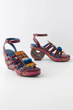 I don't think I can pull these off, I don't think anyone can.  Safa Sandals - Anthropologie.com