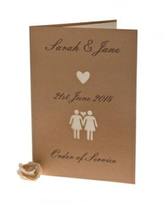 Razzle Dazzle Rose - Personalised laser cut wedding invitations NEW from the Belle Femme range, beautifully designed & personalised. Perfect for same sex/Gay couples.