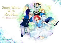 Akagami no Shirayukihime / Snow White with the red hair anime and manga    10th anniversary Shirayuki Prince Zen Mitsuhide Kiki and Obi