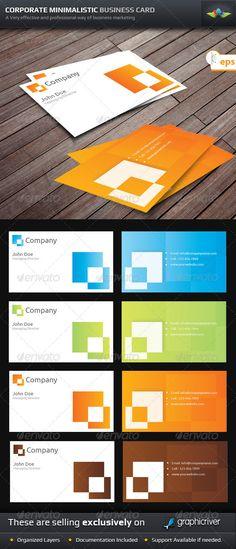 Corporate Minimalistic Business Cards - http://www.bce-online.com/en