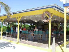 bar on Half Moon Cay, Bahamas