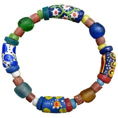 Sister to Sister Bracelet handmade with recycled glass beads by #GlobalMamas in #Ghana. Includes tag explaining the meaning of the beads. #FairTrade cometogethertrading.com