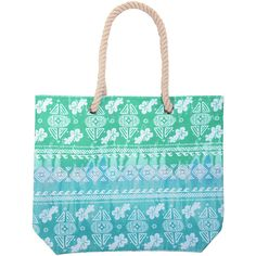 Hawaiian Tropic Beach Tote (65 CAD) ❤ liked on Polyvore featuring bags, handbags, tote bags, beach, beach bag, colorful handbags, beach tote bags, lightweight tote bag and beach handbags