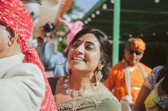 Happy expressions during this stunning Indian Wedding in Portugal #indianwedding #destinationweddinginportugal