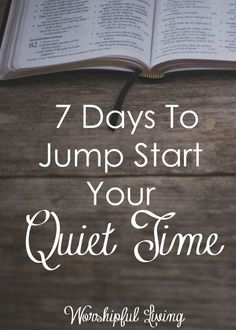 Does your quiet time need a jump start? Are you not sure where to begin - or has it just lost it's flavor? Come join us - and start moving forward in your walk with the Lord again!