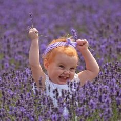 lavender and little redhead todler