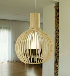 Pendant wood lamp 5114 lenore. by lenorewood on Etsy