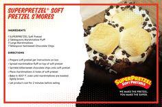 "A yummy ""twist"" on S'mores!  Try a SuperPretzel Soft Pretzel today!"