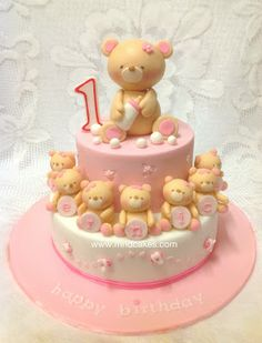 Forever Friends Bear Birthday Girl cake