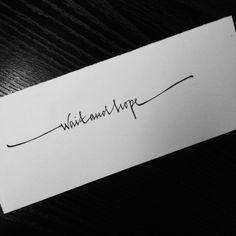 as a infinity tat!