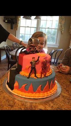 1/2&1/2 birthday cake antman and shark boy and lava girl