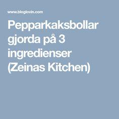 Pepparkaksbollar gjorda på 3 ingredienser (Zeinas Kitchen)