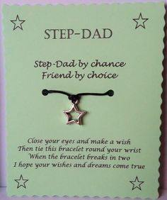 Step Dad Gift Fathers Day String Wish By GemsNJewells On Etsy Birthday