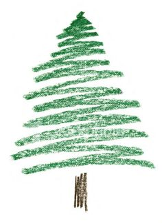 Christmas tree drawing creative commons