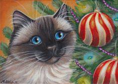 Ragdoll Cat - Christmas Painting