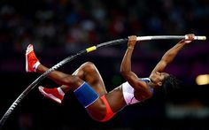 Yarisley Silva of Cuba competes in the women's Pole Vault final during the London 2012 Olympic Games