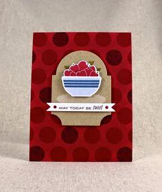 Sweet Apples Card by Lizzie Jones for Papertrey Ink (June 2014)